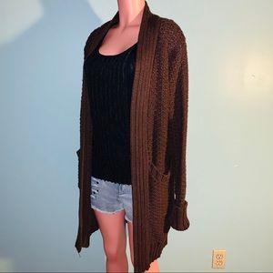 Moda International Heavy Long Cardigan Sweater LG